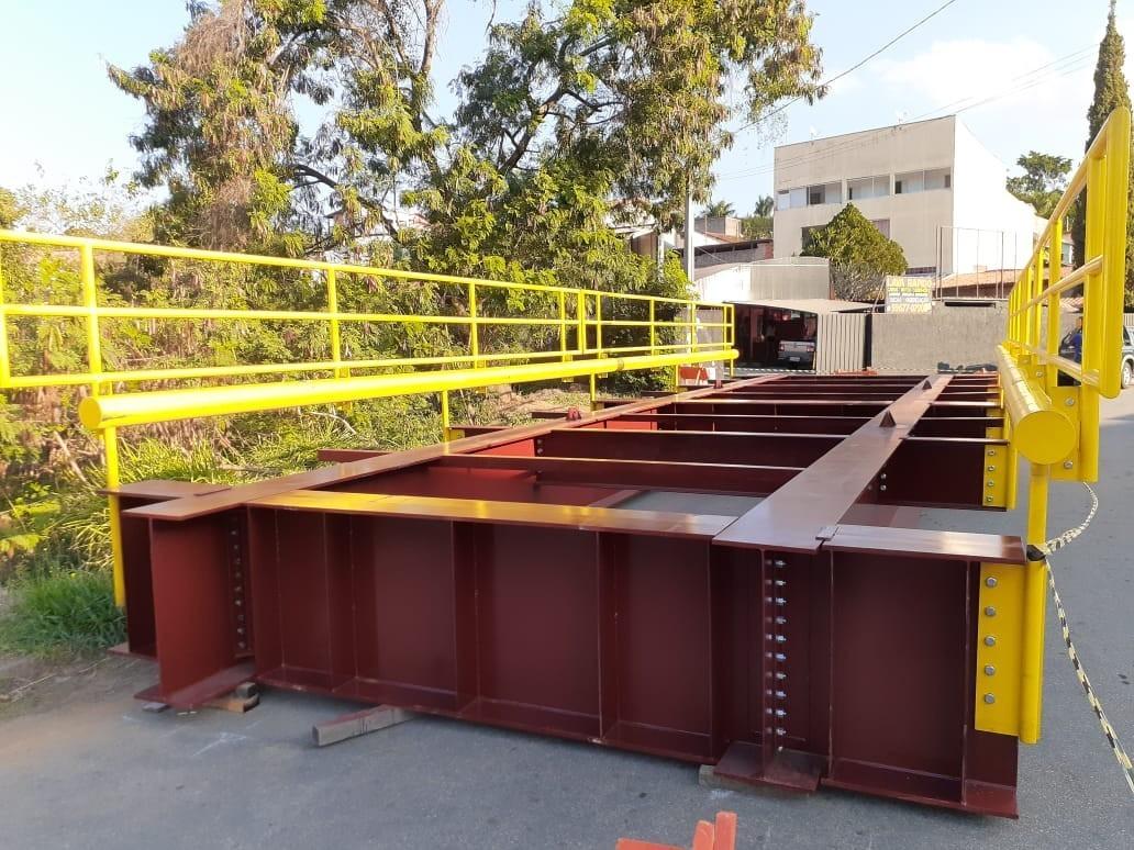 Estrutura metalica para pontes