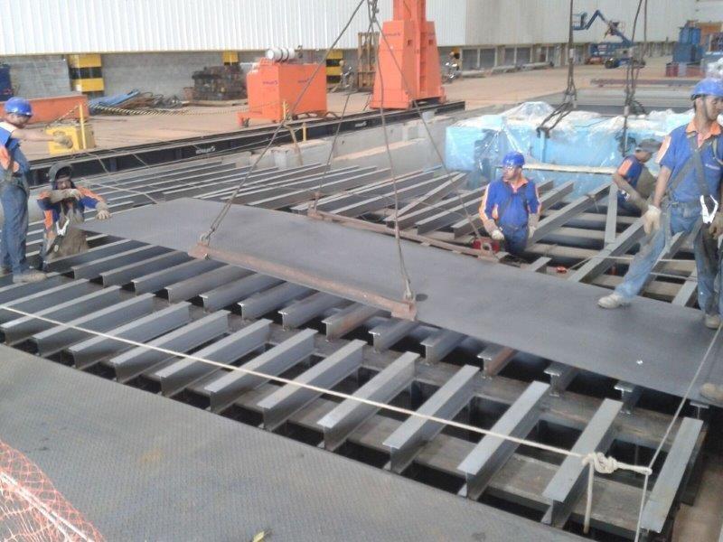 Fábrica de estruturas de aço
